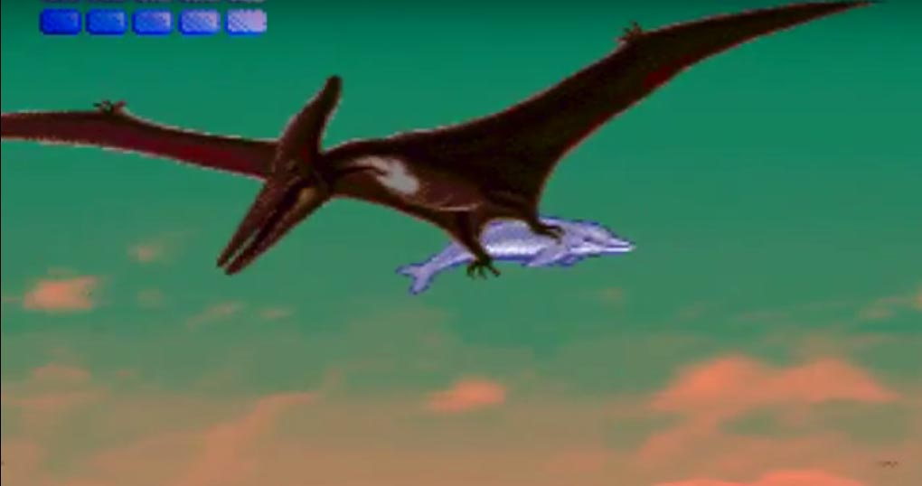 Screenshot from Ecco the Dolphin.